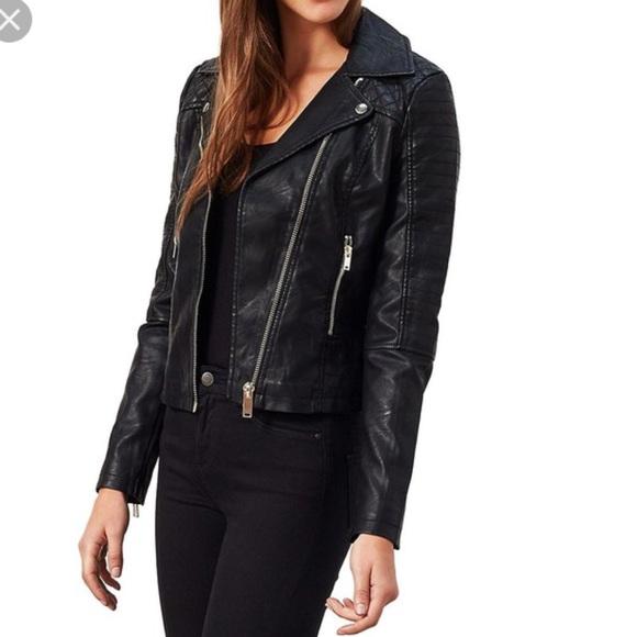 0c03b25ad Miss Selfridge Faux Leather Moto-Biker Jacket